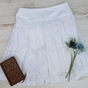 I•N•C Eyelet Lace Knee Length Skirt